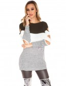 Акриловое платье-туника с прорезями (105233) - foto