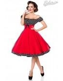 Красное платье с присборенным лифом (105248) - foto