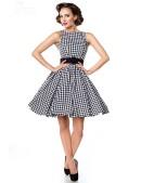 Платье в стиле 50-х с поясом (105251) - материал, 6