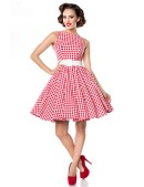 Винтажное платье в красную клетку (105252) - материал, 6
