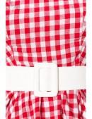 Винтажное платье в красную клетку (105252) - 3, 8