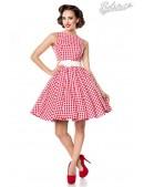 Винтажное платье в красную клетку (105252) - foto