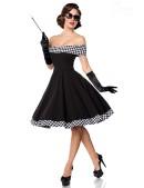 Ретро-платье с открытыми плечами (105254) - 3, 8