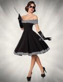 Ретро-платье с открытыми плечами (105254) - foto