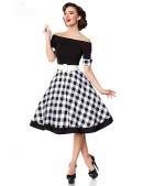 Винтажное платье с клетчатой юбкой (105255) - 3, 8