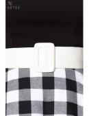 Винтажное платье с клетчатой юбкой (105255) - материал, 6