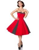 Красное ретро-платье с болеро (105257) - цена, 4