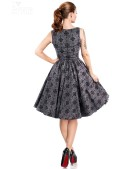 Винтажное платье из узорчатой ткани (105260) - цена, 4