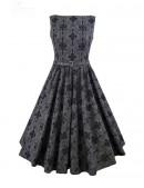 Винтажное платье из узорчатой ткани (105260) - оригинальная одежда, 2