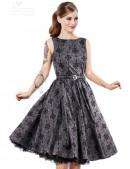 Винтажное платье из узорчатой ткани (105260) - материал, 6