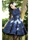 Синее платье в стиле Pin-Up (105262) - foto