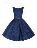 Синее платье в стиле Pin-Up (105262) - оригинальная одежда, 2