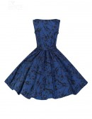 Синее платье в стиле Pin-Up (105262) - материал, 6