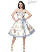 Ретро платье с винтажным узором (105264) - foto