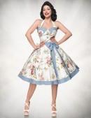 Ретро платье с винтажным узором (105264) - цена, 4