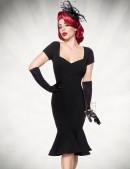 Черное ретро-платье с декольте B267 (105267) - 3, 8