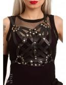 Длинное двусоставное платье с портупеей (105275) - цена, 4