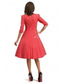 Красное клетчатое платье в стиле Ретро (105276) - 3, 8