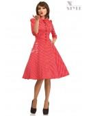 Красное клетчатое платье в стиле Ретро (105276) - foto