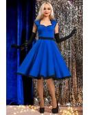 Платье в стиле Ретро (синий электрик) (105277) - foto