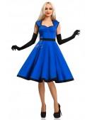 Платье в стиле Ретро (синий электрик) (105277) - цена, 4