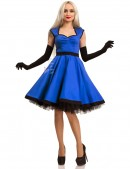 Хлопковое платье в стиле Ретро (электрик) (105277) - материал, 6
