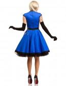 Платье в стиле Ретро (синий электрик) (105277) - оригинальная одежда, 2