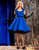 Хлопковое платье в стиле Ретро (электрик) (105277) - foto