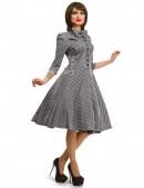 Клетчатое платье в стиле 50-х (105279) - 3, 8