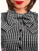 Клетчатое платье в стиле 50-х (105279) - цена, 4