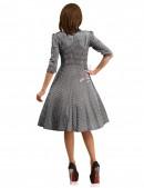 Клетчатое платье в стиле 50-х (105279) - оригинальная одежда, 2
