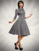 Клетчатое платье в стиле 50-х (105279) - foto