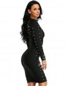 Бандажное черное платье XC307 (105307) - оригинальная одежда, 2
