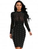 Бандажное черное платье XC307 (105307) - foto