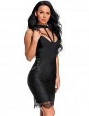 Бандажное черное платье с кружевом X5312 (105312) - материал, 6