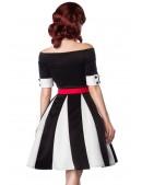 Черно-белое платье в стиле ретро (105181) - оригинальная одежда, 2
