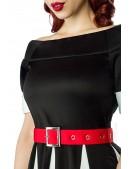Черно-белое платье в стиле ретро (105181) - материал, 6