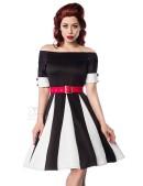 Черно-белое платье в стиле ретро (105181) - цена, 4