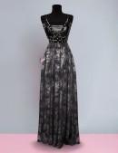 Длинное платье с портупеей и жемчугом (105218) - оригинальная одежда, 2