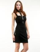 Облегающее платье с декольте и воротником (105114) - материал, 6