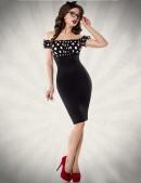 Облегающее платье в ретро-стиле (105174) - foto