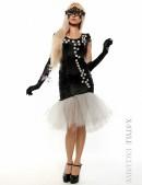 Вечернее платье с перчатками и вышивкой (105143) - материал, 6