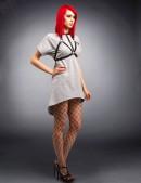 Платье с портупеей X246 (105246) - материал, 6