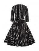 Платье в горох в стиле 50-х UF5216 (105216) - оригинальная одежда, 2