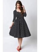 Платье в горох в стиле 50-х UF5216 (105216) - foto