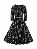 Платье в горох в стиле 50-х UF5216 (105216) - 4, 10
