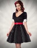 Ретро-платье с коротким рукавом (105180) - foto