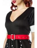 Ретро-платье с коротким рукавом (105180) - материал, 6
