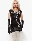 Вечернее платье с перчатками и вышивкой (105143) - цена, 4