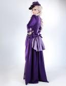 Прогулочное платье в стиле конца 19 ст. (125028) - оригинальная одежда, 2